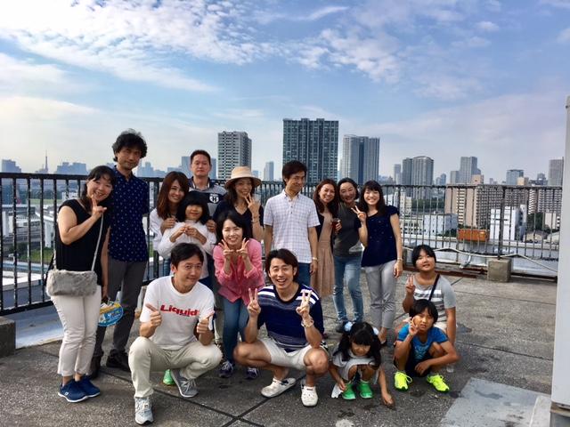 東京湾を眺めながら、屋上貸し切りバーベキュー!