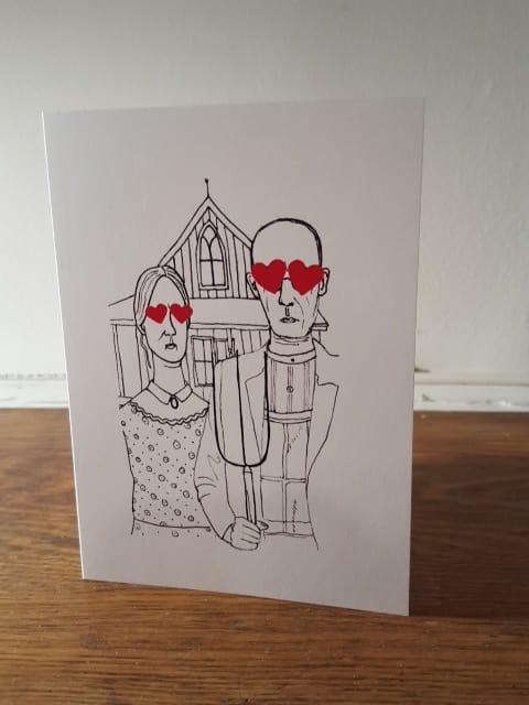 ハルカデザインのバレンタインのカード