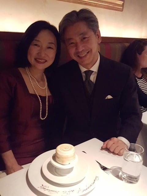 結婚記念日のレストラン